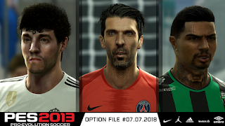 PES 2013 Option File Latest Transfer 07-07-2018
