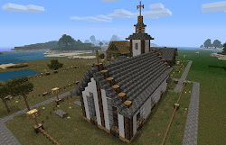 minecraft church town churches awesome plans designs build things planetminecraft project houses builds stuff library roof learned playing map modern