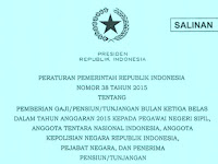 Gaji ke 13 PNS TNI dan Polri Akan Segera Cair