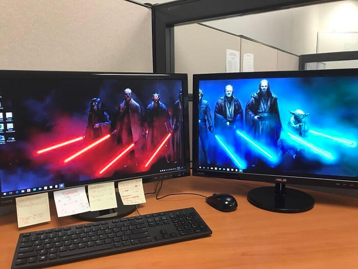 28 Creatively Hilarious Desktop Wallpapers We Wished We Had Thought Of First - My Desktop Set Up At Work