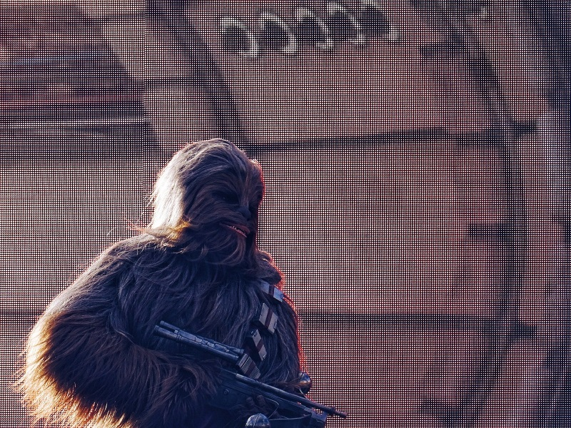 Disneyland Paris avec Chewbacca de Star Wars