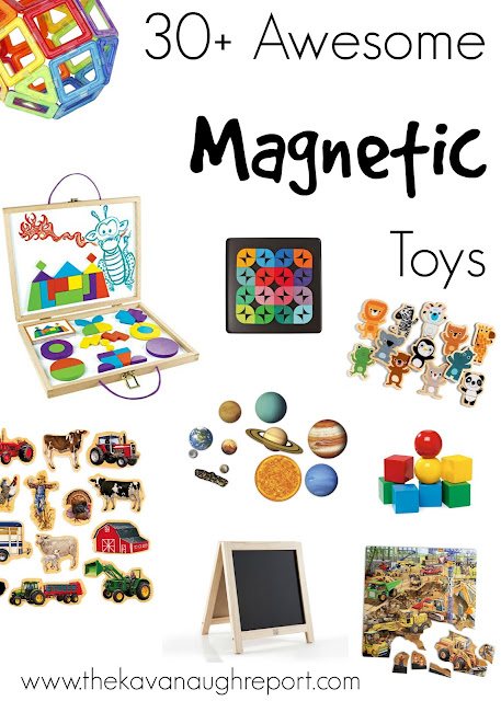 More than 30 awesome magnet toys. These Montessori friendly toys are perfect for children from babies through Kindergarten!