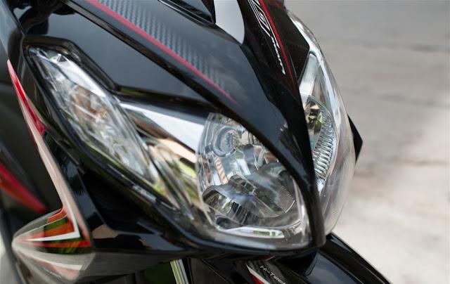 Sơn phối màu xe Yamaha Luvias đỏ đen