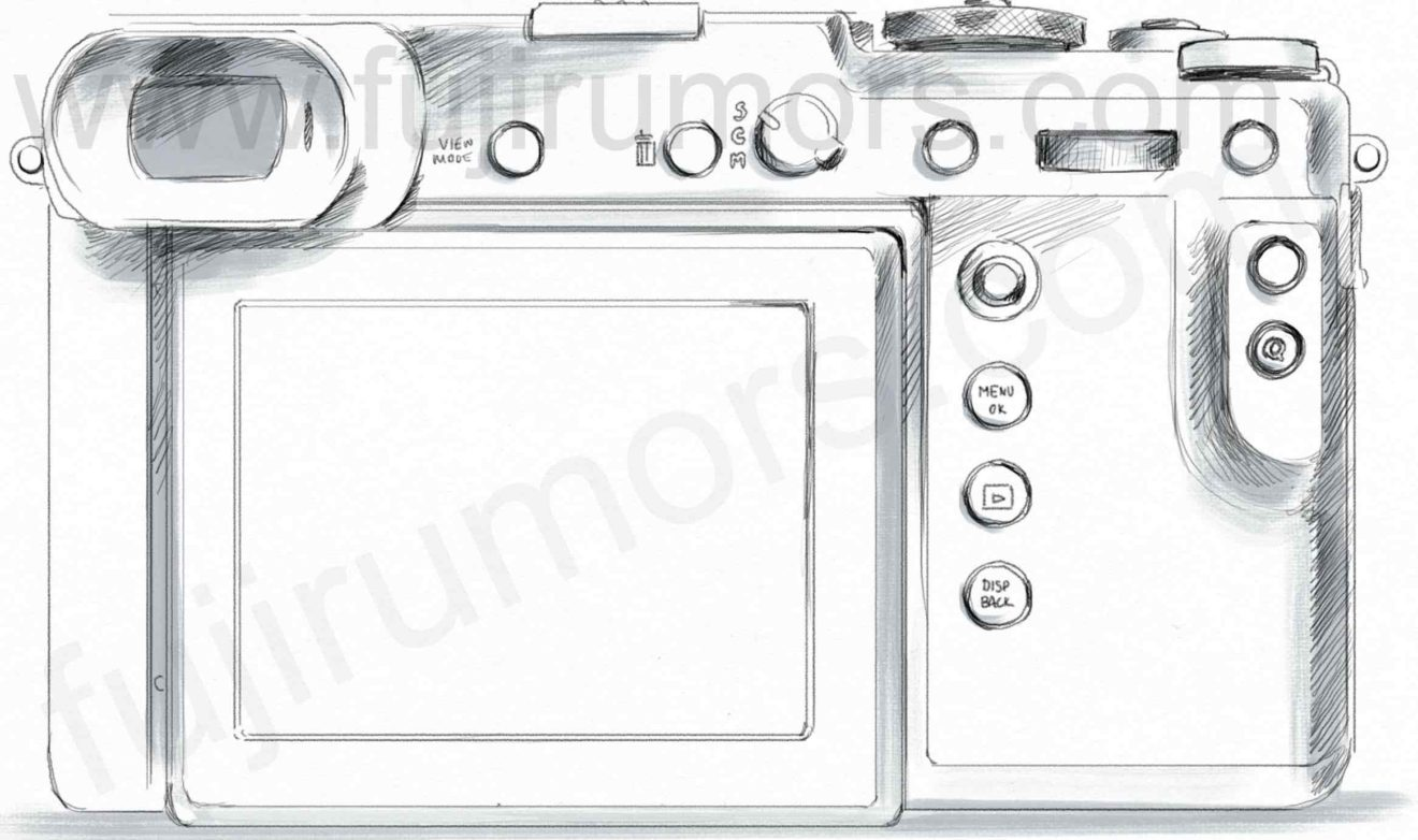 Fujifilm GFX 50R, вид сзади