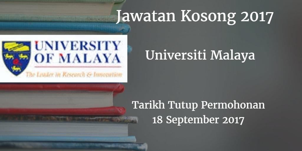 Jawatan Kosong UM 18 September 2017