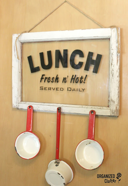 Old Window Lunch Sign www.organizedclutter.net