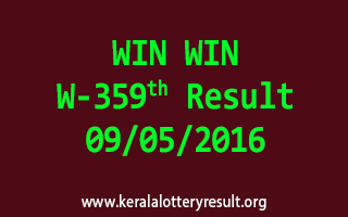 WIN WIN W 359 Lottery Result 9-5-2016