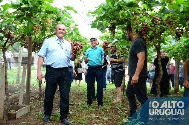 No registro, Frizzo aparece à esquerda, na propriedade da família Camargo, na linha Santos Anjos, em FW (Fotos: Gracieli Verde)