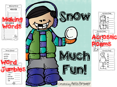 FREEBIE Pack: Snow Much Fun! Literacy Activities for Kindergarten and First Grade