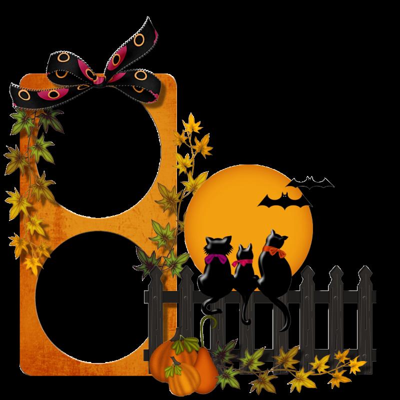 Marco Halloween gatos negros