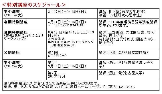 東京言語研究所理論言語学講座 ...