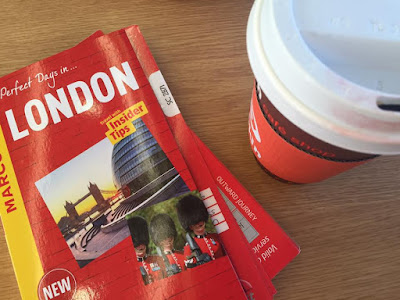 A family day trip to London with Virgin Trains East Coast - coffee and guide book
