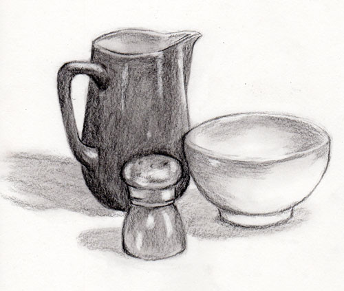 Art Drawings Sketches of Objects | ... space and how the ...  |Pencil Sketch Simple Object