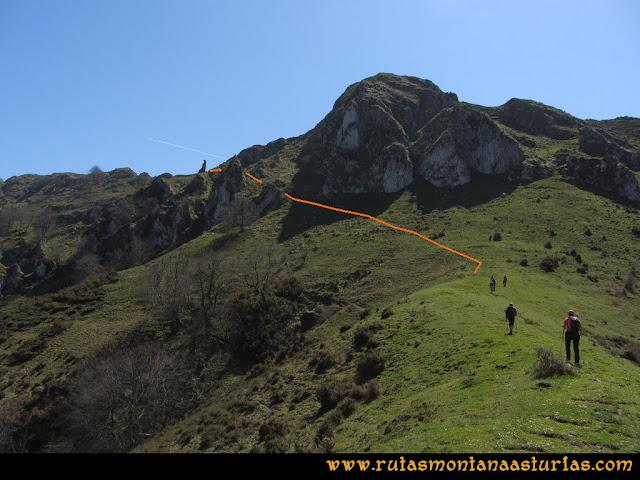 Ruta Ardisana, pico Hibeo: Camino a la arista del Hibeo