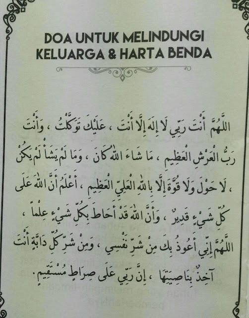 Doa Untuk Melindungi Keluarga Dan Harta Benda