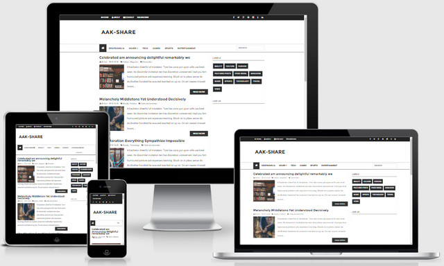 Aak-share Responsive Blogger Templates