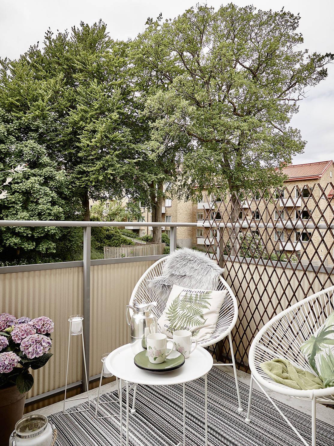 balkon ikea, styl w stylu skandynawskim, jak urządzić mały balkon