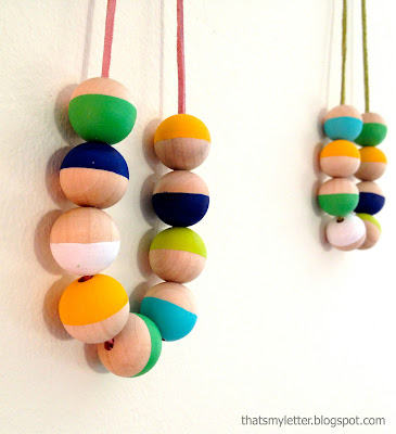wood bead necklace kids craft