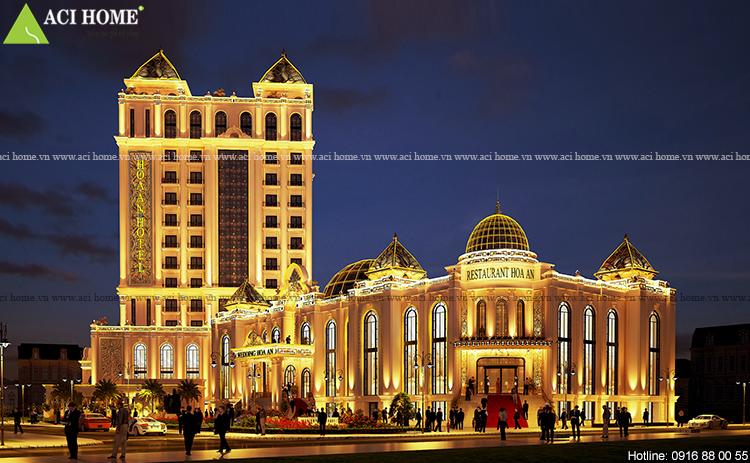 thiết kế khách sạn kiểu Pháp 4 sao - 13 tầng đẹp ấn tượng tại Phan Thiết