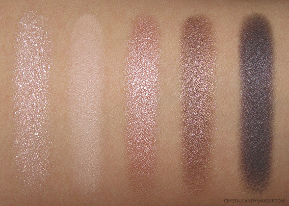 Clarins Instant Natural Glow 5-Colour Eyeshadow Palette Photos Swatches