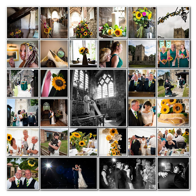romaldskirk kirk, barnard castle wedding, sunflower wedding