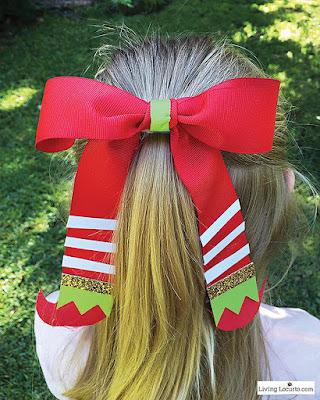 peinado de navidad con moño para niñas