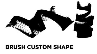 Brush custom shape