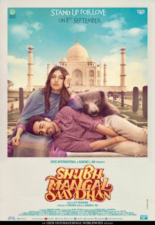 Poster Of Bollywood Movie Shubh Mangal Saavdhan 2017 300MB Pdvd Full Hindi Movie