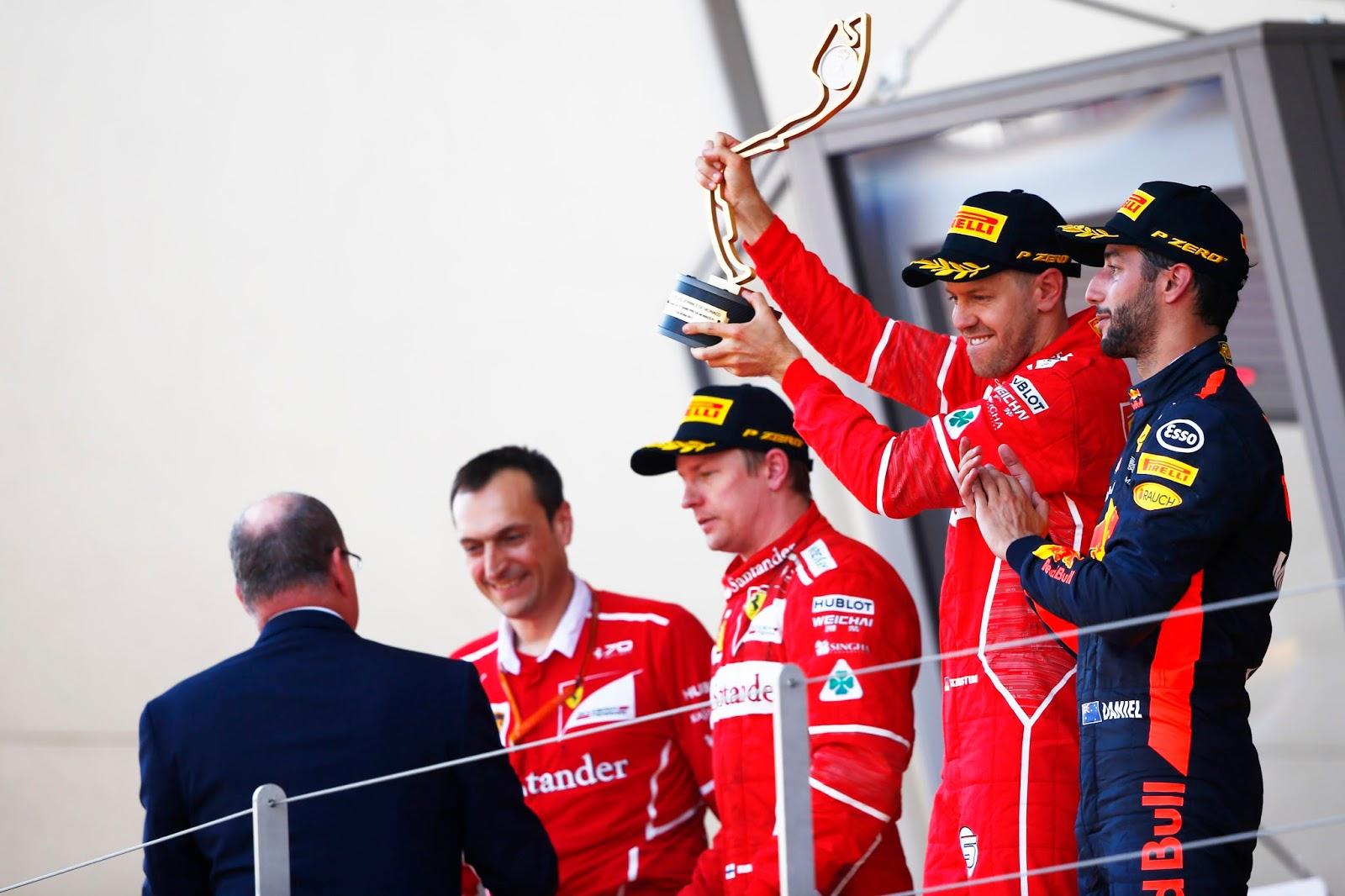 Trionfo Ferrari a Monaco, Vettel vince e Raikkonen secondo