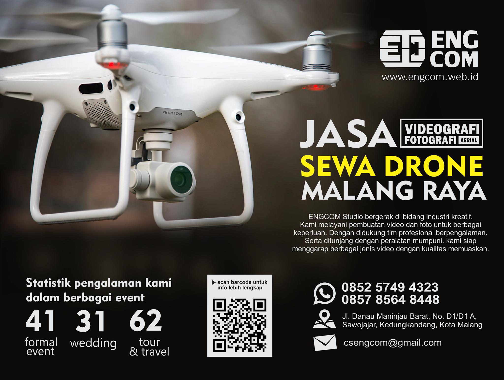 Brosur Sewa Drone di Malang Raya
