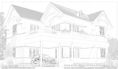 Beautiful home elevation 242 square meter (2600 Square Feet) - October 2011