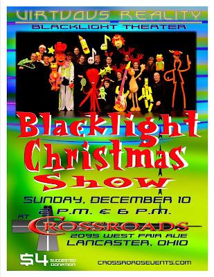 Lancaster First United Methodist Church Blacklight Christmas Show Ad