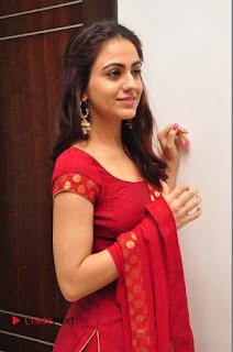 Actress Aksha Pictures in Red Salwar Kameez At Kalamandir 6th Anniversary Celebrations  0029