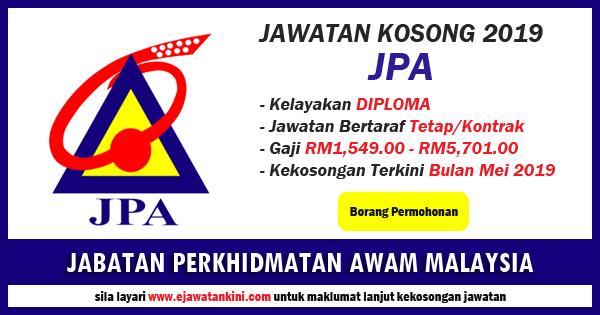 Iklan Jawatan Kosong JPA