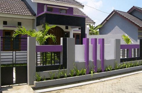 Contoh Foto warna fasad sesuai type rumah minimalis.