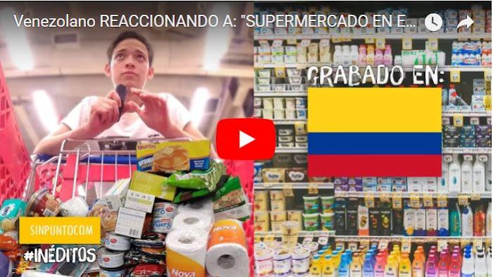 La reacción de un venezolano en un supermercado de Colombia