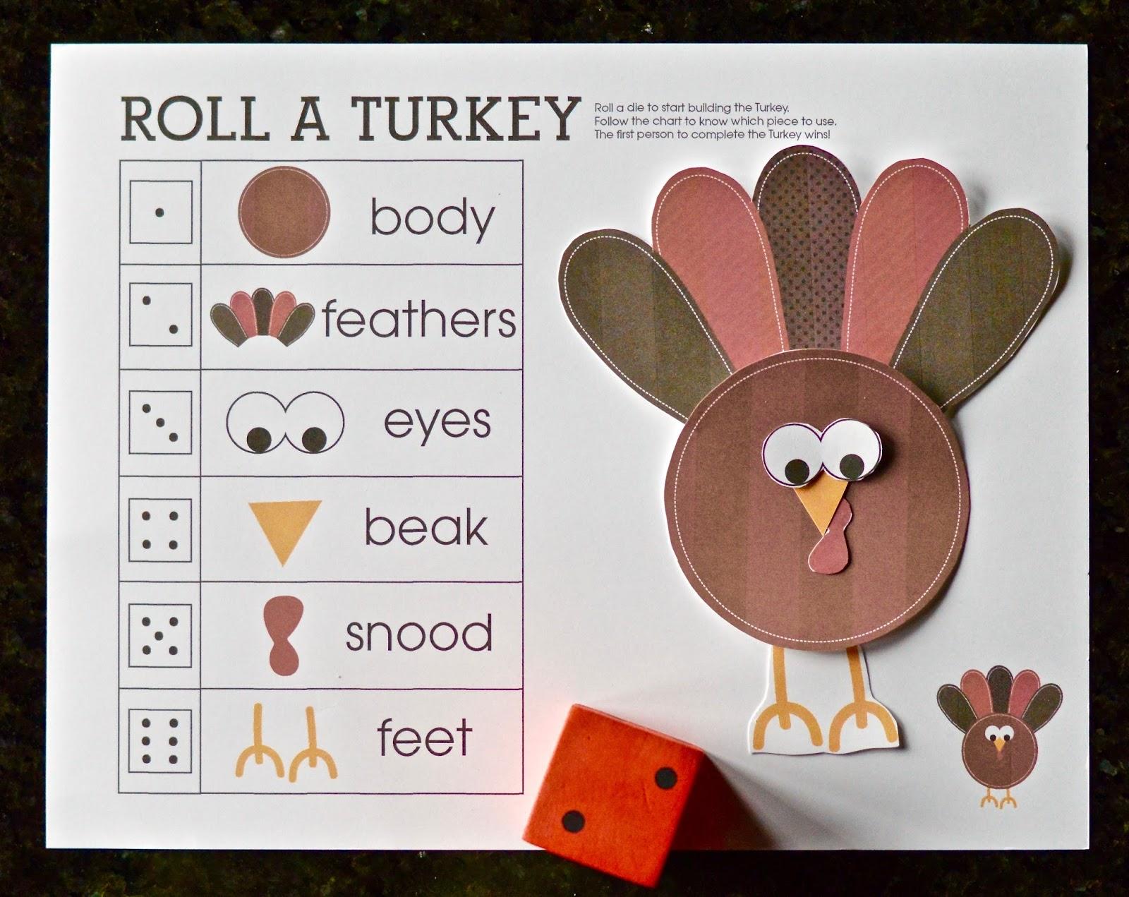 Roll A Turkey Dice Game