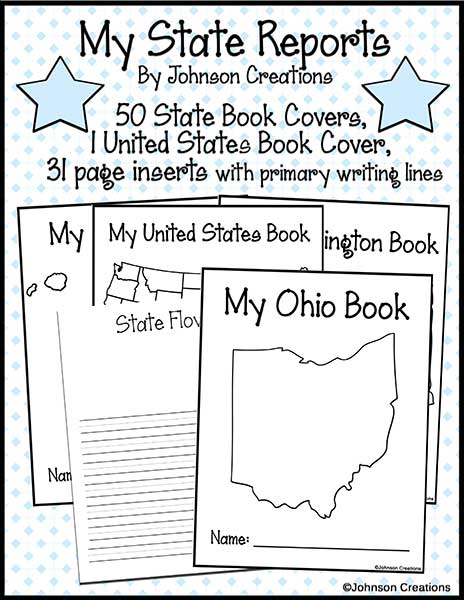 State report booklet set of worksheets