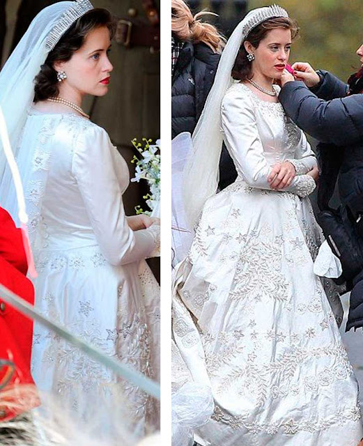 Elizabeth vestido de noiva, The Crown