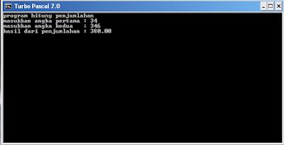 kumpulan contoh perintah program pascal parameter procedure