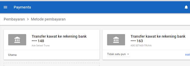 Mudahnya Metoda Pembayaran Google Adsense via Transfer Bank Wire