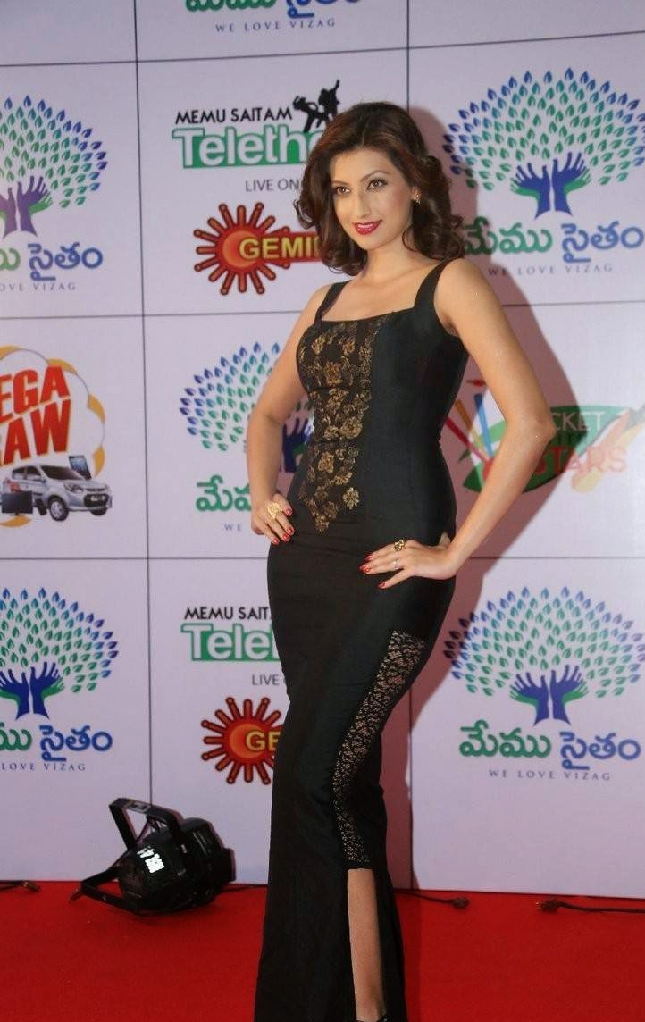 Hamsa Nandini Stills, Hamsa NandiniHot Hd Pics in Black Dress