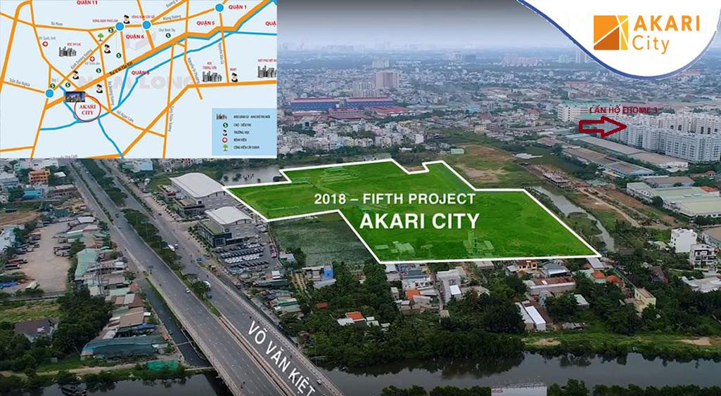 Vị trí căn hộ Akari City - Mặt tiền Đại lộ Võ Văn Kiệt