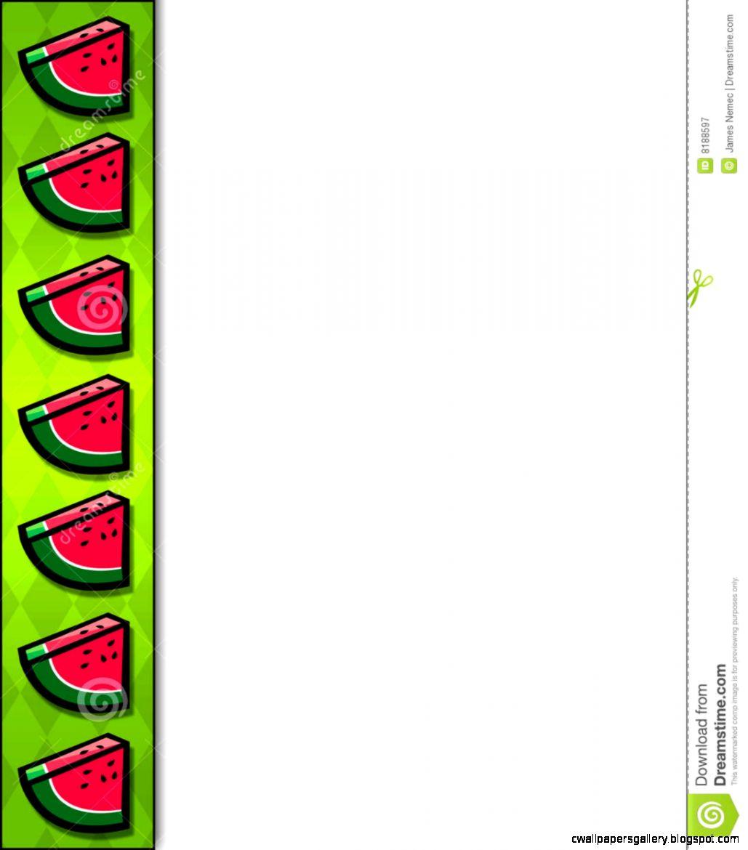 watermelon border clip art wallpapers gallery