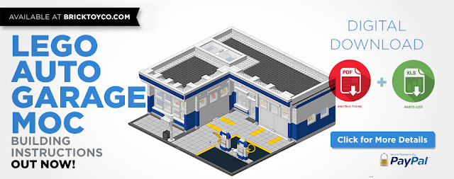 Lego Auto Garage Build Instructions Now Available Boxtoy