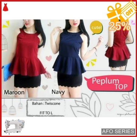 AFO598 Model Fashion Peplum New Modis Murah BMGShop