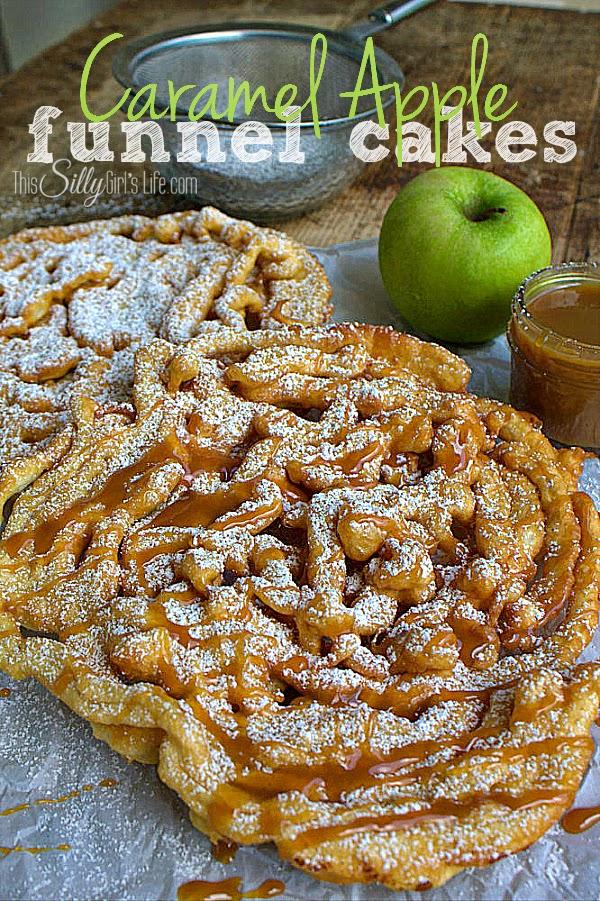 Caramel Apple Funnel Cakes