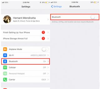 Cara Menangani Wifi Atau Bluetooth Menyala Secara Otomatis di iOS 11
