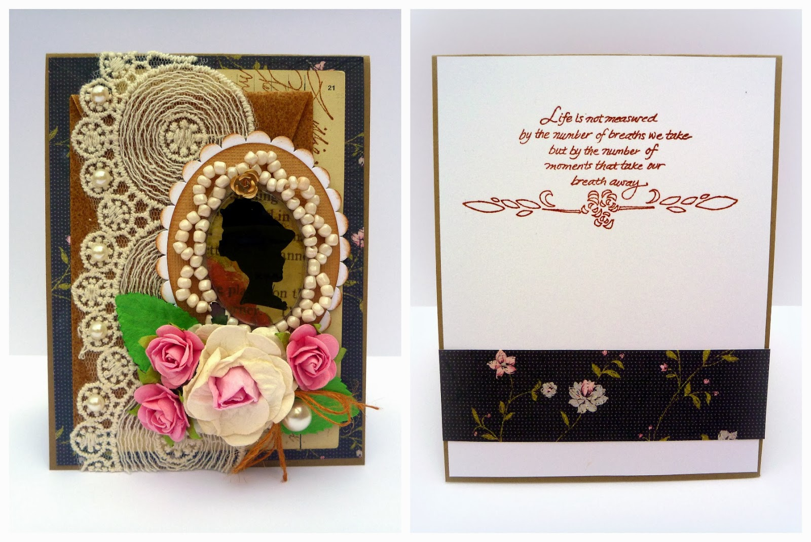 Devonshire Lady Card Front and Inside by Dana Tatar for Couture Creations