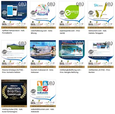 Api 2018 Promosi Pariwisata Digital Aplikasi web Terpopuler Indonesia